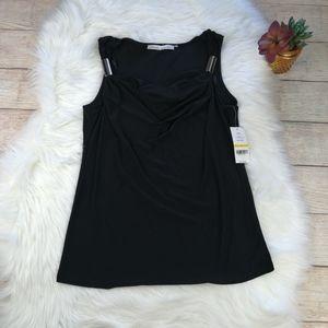Cynthia Steffe Black Sleeveless Blouse Size M